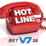 Gọi điện tới tổng đài hotline của nhà cái V7BET