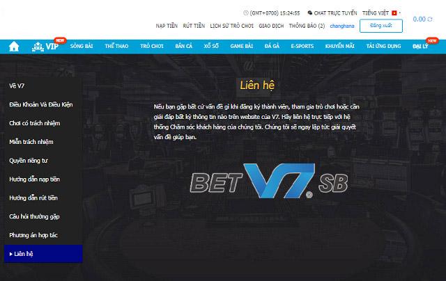 Gửi email tới hòm thư góp ý của nhà cái V7SB