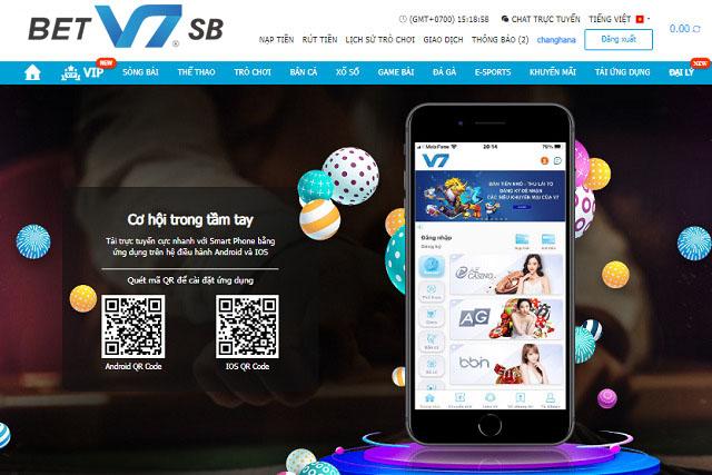 Sử dụng app V7SB Mobile để truy cập vào nhà cái không bị chặn