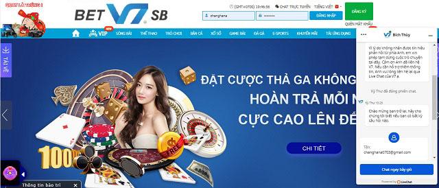 Chat trực tiếp tại website nhà cái V7SB