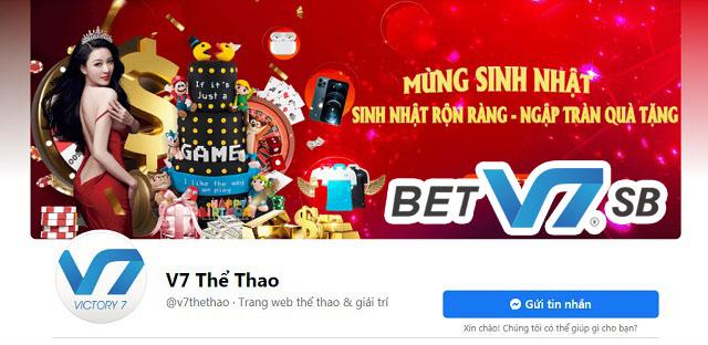 Liên hệ qua trang facebook của nhà cái V7SB